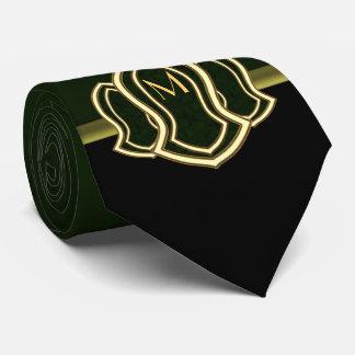 Sandalia del mármol y del oro (verdes) del profeta corbatas personalizadas