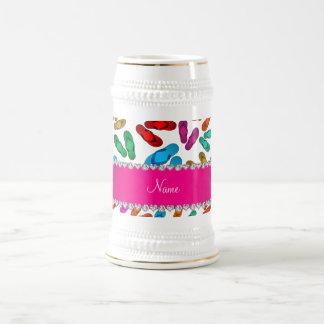 Sandalias blancas conocidas personalizadas del jarra de cerveza