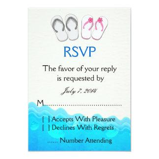 Sandalias de la playa que casan RSVP Invitación 12,7 X 17,8 Cm