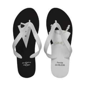 Sandalias de los flips-flopes del boda de la novia
