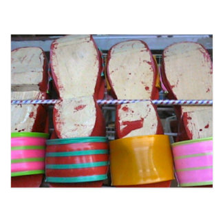 Sandalias de madera, mercado de Bugis Tarjeta Postal
