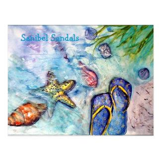 Sandalias de Sanibel Postales