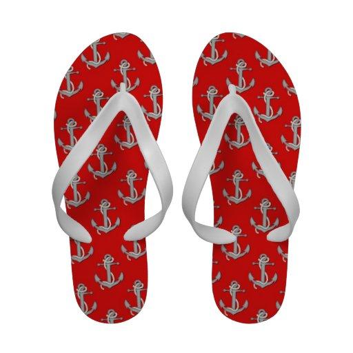 Sandalias del flip-flop de las anclas de las naves