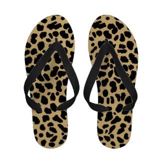 Sandalias enrrolladas del flip-flop del estampado