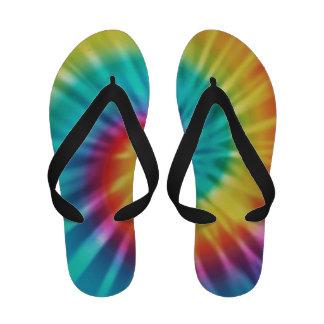 Sandalias frescas del flip-flop del teñido anudado