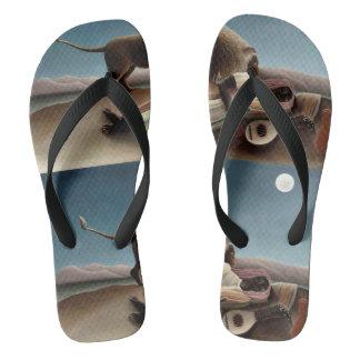 Sandalias gitanas del arte el dormir de Rousseau