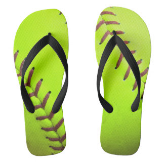 Sandalias rápidas amarillas del flip-flop de la