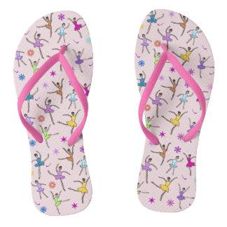 Sandalias rosadas de la bailarina