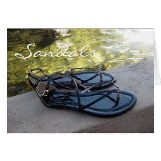 Sandals and Water Card