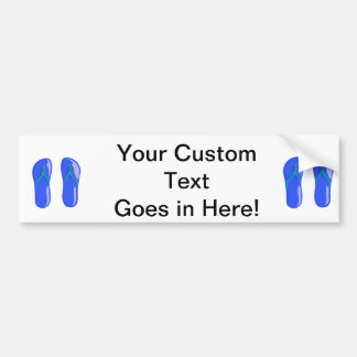 sandals blue beaded strap.png bumper sticker