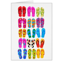 Sandals Colorful Fun Beach Theme Summer