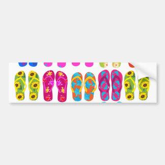 Sandals Colorful Fun Beach Theme Summer Bumper Sticker
