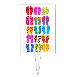 Sandals Colorful Fun Beach Theme Summer Cake Topper