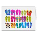 Sandals Colorful Fun Beach Theme Summer Card
