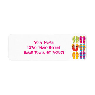 Sandals Colorful Fun Beach Theme Summer Label