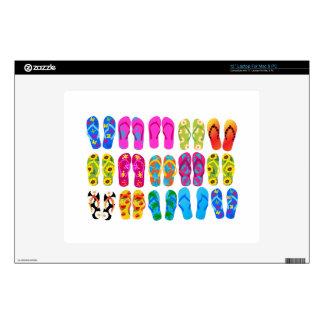 Sandals Colorful Fun Beach Theme Summer Laptop Skin