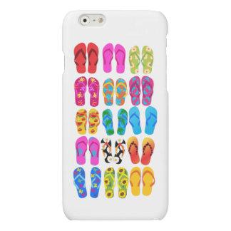 Sandals Colorful Fun Beach Theme Summer Matte iPhone 6 Case