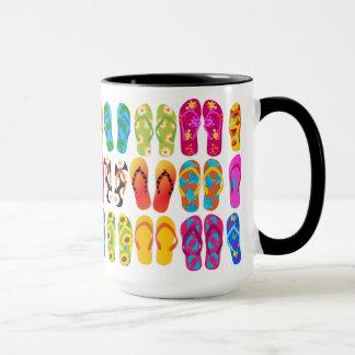 Sandals Colorful Fun Beach Theme Summer Mug