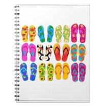 Sandals Colorful Fun Beach Theme Summer Notebook