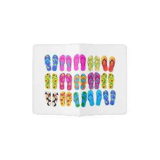 Sandals Colorful Fun Beach Theme Summer Passport Holder