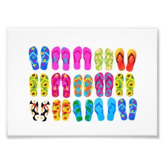 Sandals Colorful Fun Beach Theme Summer Photo Print