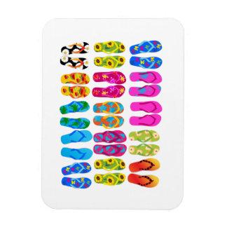 Sandals Colorful Fun Beach Theme Summer Rectangular Photo Magnet