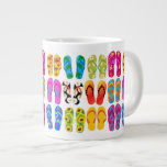Sandals Colorful Fun Beach Theme Summer 20 Oz Large Ceramic Coffee Mug