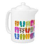 Sandals Colorful Fun Beach Theme Summer Teapot
