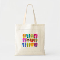Sandals Colorful Fun Beach Theme Summer Tote Bag