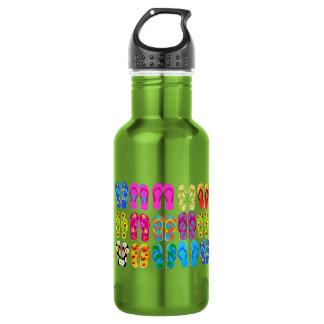 Sandals Colorful Fun Beach Theme Summer Water Bottle