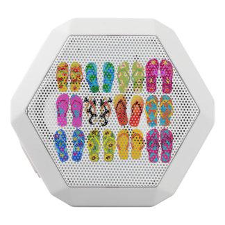 Sandals Colorful Fun Beach Theme Summer White Bluetooth Speaker