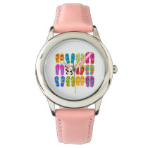 Sandals Colorful Fun Beach Theme Summer Wrist Watch