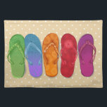 "Sandals flip-flops beach party - sand dots placemat<br><div class=""desc"">Bright design for your endless summer!</div>"