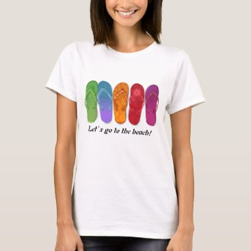 Beach Themed Sandals flip-flops beach party - sand dots T-Shirt