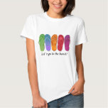 Sandals flip-flops beach party - sand dots tee shirt