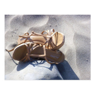Sandals in the Sand Postcard
