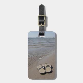 Sandals on the Beach Bag Tag