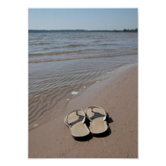 Sandals on the Beach Poster