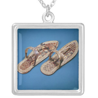 Sandals, Tomb of Tutankhamun, New Kingdom Silver Plated Necklace