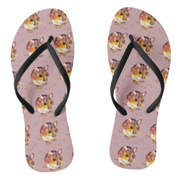 Beach Themed Sandals with handpainted mice