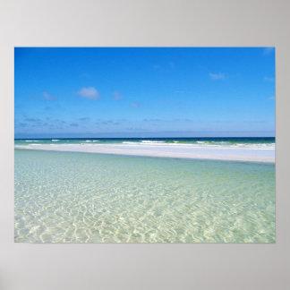 Sandbar and Surf Poster