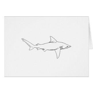 Sandbar Shark Illustration (line art) Card