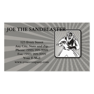 Sandblaster Sand Blaster Woodcut Retro Double-Sided Standard Business Cards (Pack Of 100)
