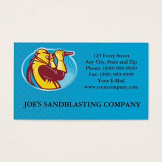 Sandblaster Sandblasting Business Card