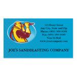 Sandblaster Sandblasting Business Card Template
