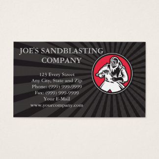 Sandblaster Sandblasting Circle Retro Business Card