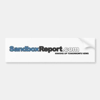 Sandbox Report Car Bumper Sticker