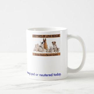 SAndC, ahorra un perro o el gato que la vida los Taza Básica Blanca