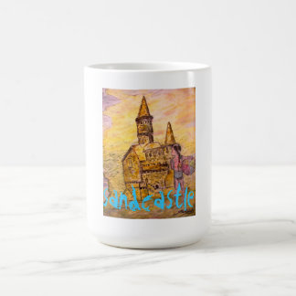 sandcastle art mug