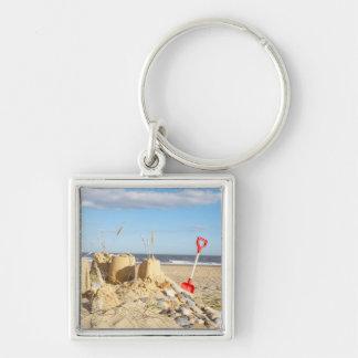 Sandcastle At Beach Keychain